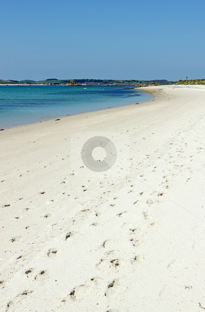 Sandy beach St. Martin's Isles of Scilly Cornwall UK. stock photo, Sandy beach St. Martin's Isles of Scilly Cornwall UK. by Stephen Rees