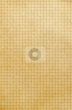 Old yellowing square paper grid close up. stock photo, Old yellowing square paper grid close up. by Stephen Rees
