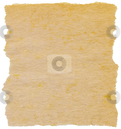 Old torn paper isolated on a white background. stock photo, Old torn paper isolated on a white background. by Stephen Rees