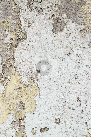 Dirty old weathered flaky white paint on a wall. stock photo, Dirty old weathered flaky white paint on a wall. by Stephen Rees