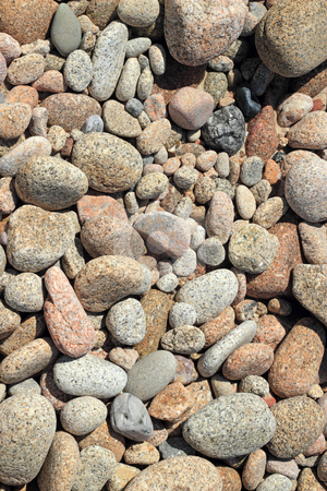 Large beach stones close up. stock photo, Large beach stones close up. by Stephen Rees