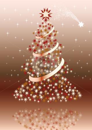 Christmas postcard with brown colors.  stock vector clipart, Christmas postcard with brown colors. by Alexander Limbach