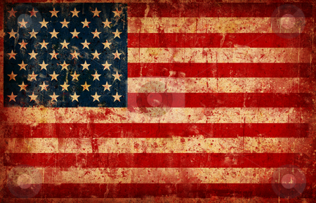 Flag of USA stock photo, Computer designed highly detailed grunge illustration - Flag of USA by GPimages
