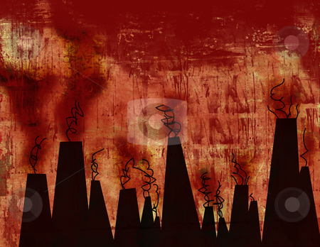 Urban grunge background stock photo, Computer designed highly detailed grunge textured abstract background - Earth pollution by GPimages