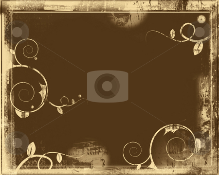 Grunge border and background stock photo, Computer designed highly detailed grunge border and aged textured backgroundwith space for your text or image. Great grunge layer for your projects. by GPimages