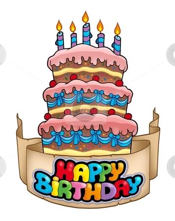 Similar Images Happy Birthday Theme With Cake