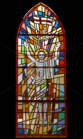 Resurrection of Jesus  stock photo, Resurrection of Jesus, stained glass by Zvonimir Atletic