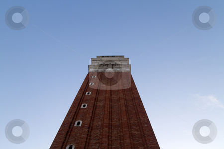 Campanile Tower stock photo, The Campanile tower in St. Marks square, Venice, Italy by Kevin Tietz