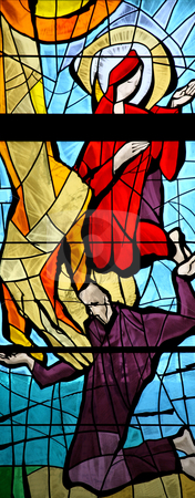 Annunciation of the Virgin Mary stock photo, Annunciation of the Virgin Mary, stained glass by Zvonimir Atletic