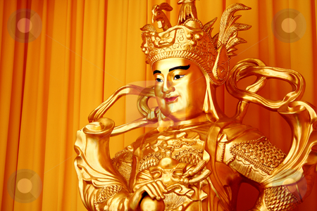 Buddha stock photo, Tradition chinese male buddha with gold toned by Keng po Leung