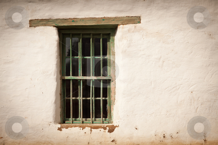 Old Spanish Window and Wall stock photo, Old Spanish Window and Wall Abstract Image. by Andy Dean