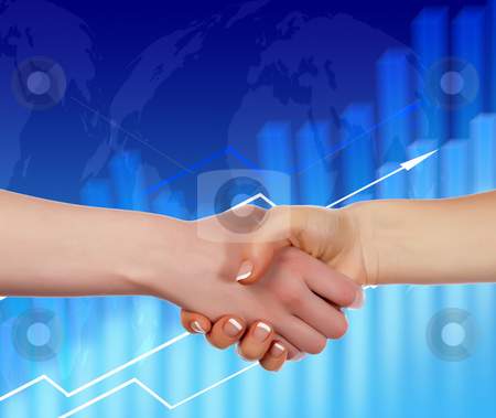 Handshake on an abstract background. stock photo, Handshake on an abstract background. The symbol of a successful business. by Sergey Nivens