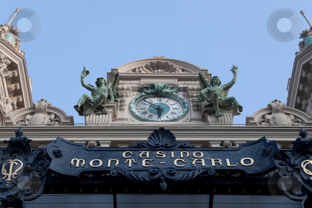 Casino Monte Carlo stock photo, A view of the facade of the famous casino Monte Carlo by Kevin Tietz