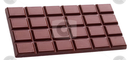 Chocolate bar isolated stock photo, Chocolate bar isolated on white background by Alex Varlakov