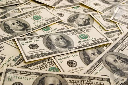 Money background stock photo, Money background for economic themes. by Alex Varlakov