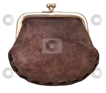 Purse isolated stock photo, Purse isolated on a white background. The concept of savings by Alex Varlakov