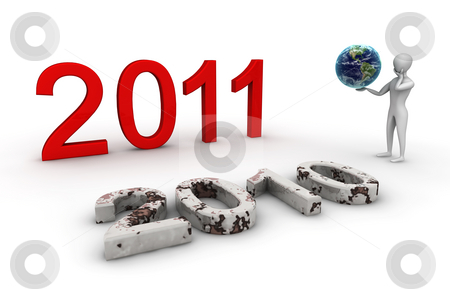 2011 The Future ? stock photo, 3d render isolated, new year postcard by Elis Baba