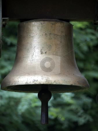 Bell Wendisch Rietz stock photo, Bell in the cemetery in Wendisch Rietz, Germany by Heike Jestram
