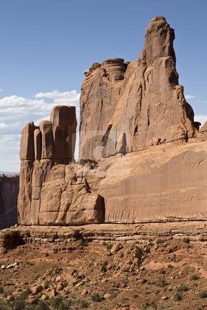 Southwest USA stock photo, Rock Formation along Park Avenue, Arches National Park, Utah, United States by mdphot