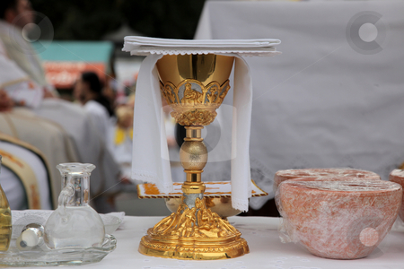 Golden chalice  stock photo,  by Zvonimir Atletic