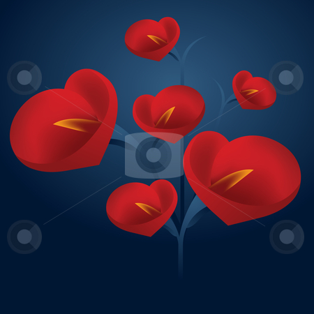 Abstract background stock vector clipart, Valentine's Day Concept Illustration . by Nabeel Zytoon
