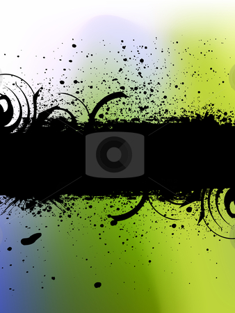 Abstract Background stock vector clipart, Vector illustration of Grunge banner with an inky dribble strip. by Nabeel Zytoon