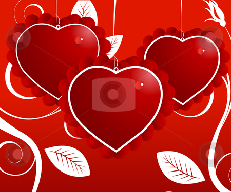 Love Illustration stock vector clipart, Valentine Illustration, perfect concept for valentine's day easy to use it as greeting card, poster, flyer, Ad. by Nabeel Zytoon