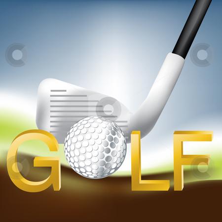Golf Sport stock vector clipart, Golf Sport concept illustration . by Nabeel Zytoon