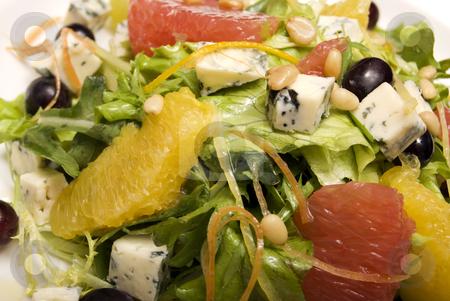 Summer salad       stock photo, Salad made of citrus, grape and cheese by Kirill Kedrinski