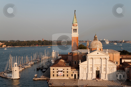 San Giorgio Maggiore stock photo, The Basilica of San Giorgio Maggiore which is on its own island in Venice, Italy by Kevin Tietz