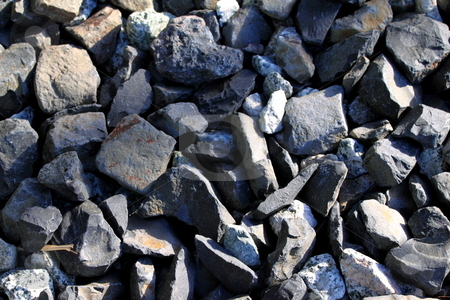 Gravel stock photo, Close up image of gravel for background by Henrik Lehnerer