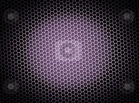 Honeycomb Background Purple stock photo, Purple honeycomb background 3d illustration or backdrop with light effect by Henrik Lehnerer