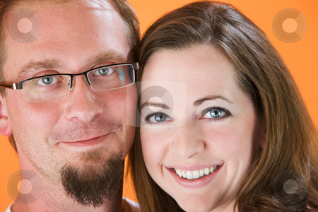 Attractive Couple stock photo, Closeup of Attractive young American or European Couple by Scott Griessel