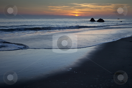 Pacific coast stock photo, Pacific coast at sunset, California, United States of America, USA by mdphot