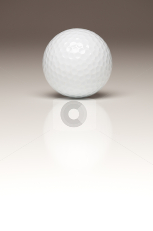 Single White Golf Ball on Gradated Background stock photo, Single White Golf Ball on a Gradated White Background. by Andy Dean