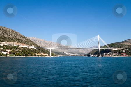 Dubrovnik Bridge stock photo, The Franjo Tudjman Bridge in Dubrovnik, Croatia by Kevin Tietz