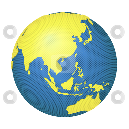 Globe with asia and australia stock vector globe with asia and australia gumiabroncs Gallery