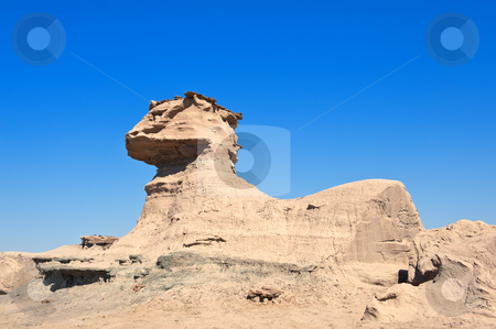 Rock fomation known as the Sphynx, Argentina. stock photo, Rock fomation known as the Sphinx, Ischigualasto national park, Argentina. by Pablo Caridad