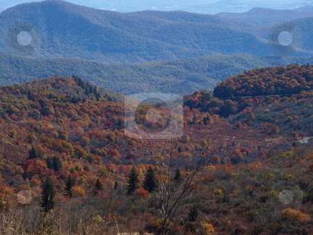 Mountain color stock photo, Along the trail in North Carolina. Views along the Art Loeb Trail. by Tim Markley