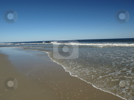 Carolina shore stock photo, Along the shore in North Carolina. A view of the beach by Tim Markley