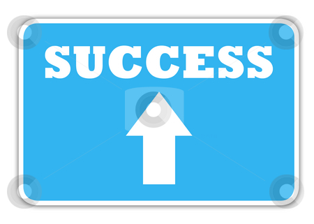 Success highway sign stock photo, Sucess highway sign with copy space, isolated on white background. by Martin Crowdy