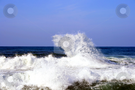 Waves after a storm stock photo, Waves after a storm in Mediterranean sea by Tatjana Keisa