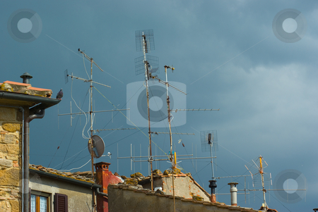 Antennen auf dem Dach - Antennas of the roof stock photo, Antennen auf dem Dach - Antennas of the roof by Wolfgang Heidasch