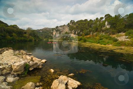 Am Fluss Gardon, S?dfrankreich - At the gardon river, southern f stock photo, Der Gardon ist ein Fluss in Frankreich, der in der Region Languedoc-Roussillon verl?uft. - The Gardon or Gard (Occitan and French: Gardon, Gard) is a river in southern France. by Wolfgang Heidasch