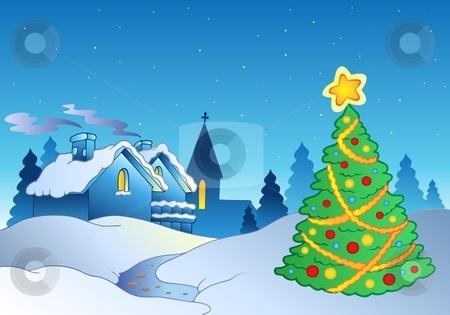 Merry Christmas theme 1 stock vector clipart, Merry Christmas theme 1 - vector illustration. by Klara Viskova