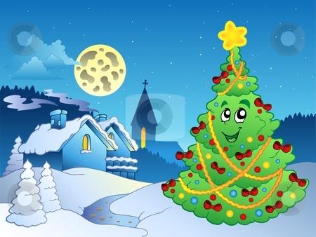Merry Christmas theme 3 stock vector clipart, Merry Christmas theme 3 - vector illustration. by Klara Viskova