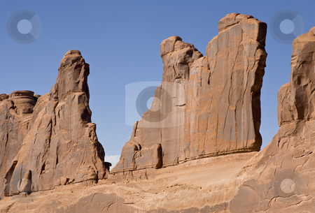 Sandstone Fins stock photo, Rock formation in Arches National Park, Utah, USA by mdphot