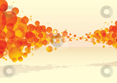 Bubble tastic citrus explode stock vector clipart, Orange bubble explode with subtle background and shadow by Michael Travers
