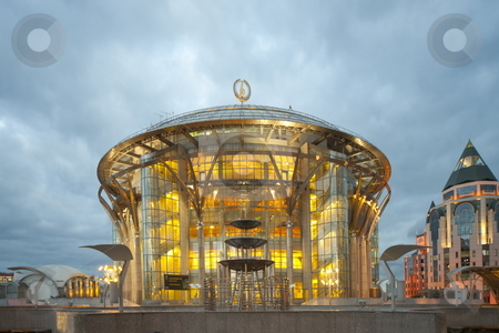 The Moscow house of music stock photo, The Moscow house of music, evening illumination by Kirill Serkov