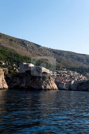 Scenic Coast stock photo, A scenic coast line in Dubrovnik, Croatia by Kevin Tietz